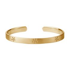 Forget-me-not bangle gold