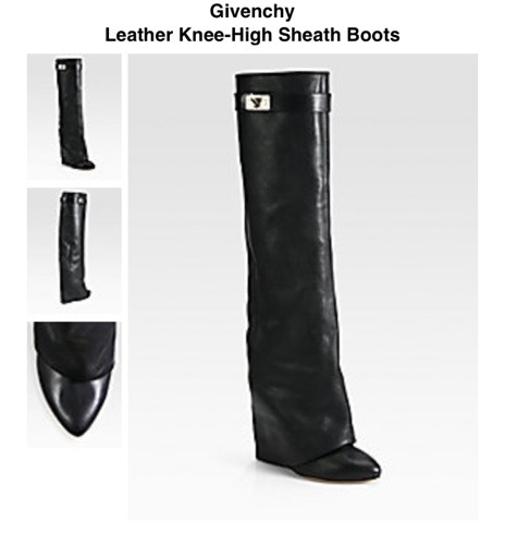 Givenchy Knee-High leather boots