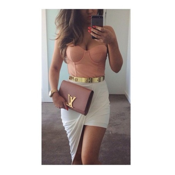 df31tv-l-c680x680-corset-top-tank-top-bag-jewels-skirt-any-color-dress-summer-pink-crop-tops-white-gold-clutch-style-summer-outfits-gold-belt-white-skirts-crop-tops-embrodering-Style just like me