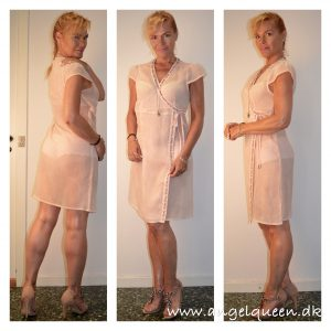Gauzy dress for a hot day